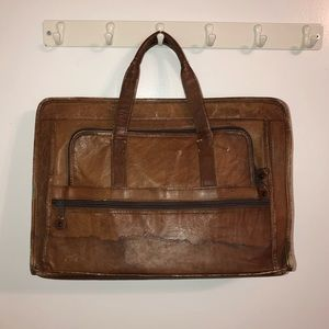 Other - Brown Leather Briefcase Satchel Bag